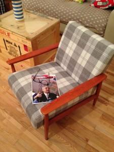 Bernardijeva fotelja nakon tapeciranja